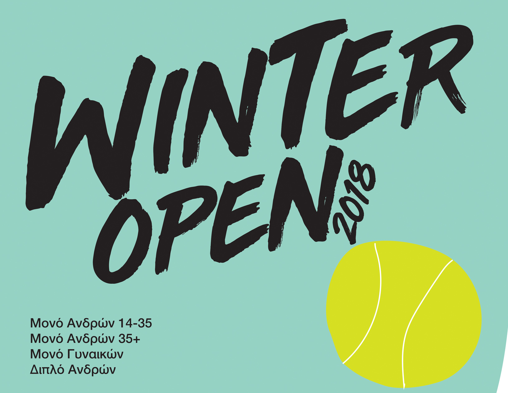 4th Winter Open 2018 – Ταμπλό (as of 26/11)