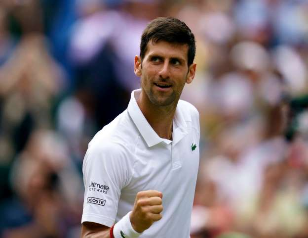 On the way to the final of Wimblendon Nole