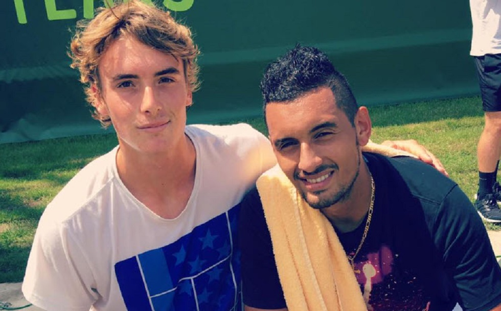 Stefanos and Kyrgios in doubles