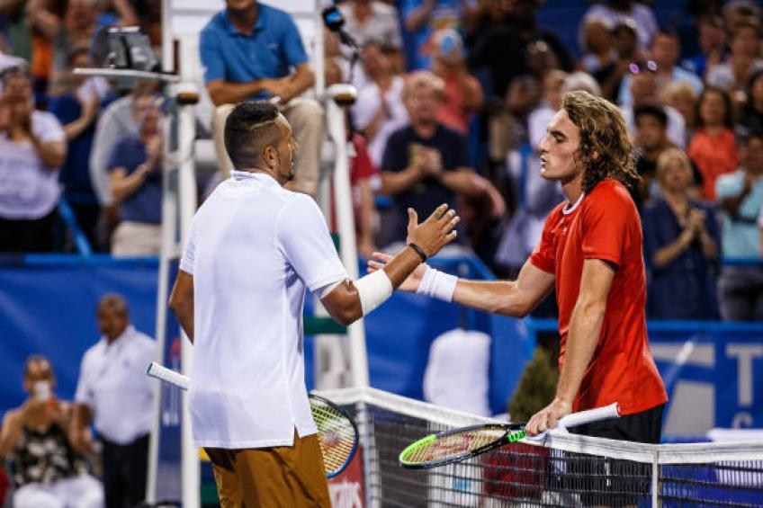 "Kyrgios ""Tsitsipas will do great things in this sport"""