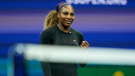 Serena at the US Open final